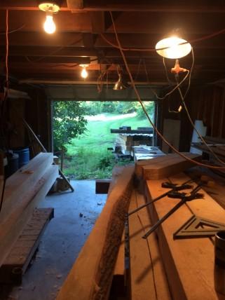 Timber frame shop